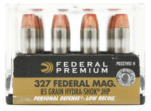 Federal Premium Personal Defense 327 Fed Mag 85gr Hydra-shok LR JHP Ammo - 20 Rounds