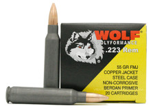 Wolf 223 Remington 55gr Copper FMJ (Non-Magnetic) Ammo - 20 Rounds