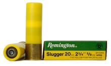 """Remington 20ga 2-3/4"""" 5/8oz Rifled Slugger Ammo - 5 Rounds"""