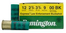 "Remington Express LE 12ga 2 3/4"" 9 Pellet 00 Buck Ammo - 25 Rounds"
