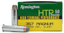 Remington HTP 357 Mag 158gr SJHP Ammo - 50 Rounds