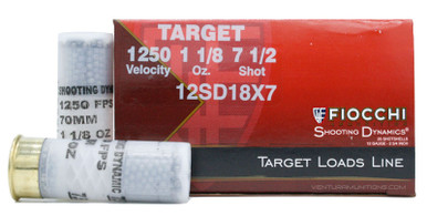 "Fiocchi Shooting Dynamics 12ga 2.75"" 1 1/8oz #7.5 Lead Chill Ammo - 25 Rounds"
