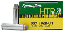 Remington HTP 357 Mag 125gr SJHP Ammo - 50 Rounds