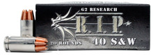 G2 Research RIP 40 S&W 115gr Copper LF HP Ammo - 20 Rounds