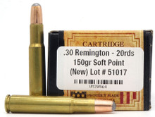 Ventura Heritage 30 Remington 150gr SP Ammo - 20 Rounds