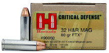 Hornady Critical Defense 32 H&R Magnum 80gr FTX Ammo - 25 Rounds