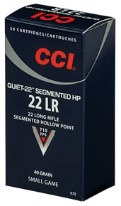 CCI Quiet 22LR 40gr Segmented HP Ammo - 50 Rounds