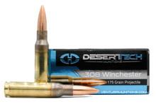 Desert Tech Premium Match 308 Win 175gr OTM BT Ammo - 20 Rounds