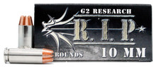 G2 Research RIP 10mm 115gr Copper LF HP Ammo - 20 Rounds