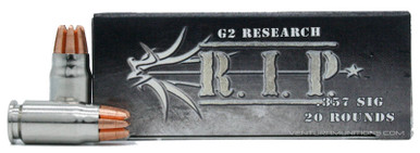 G2 Research RIP 357 Sig 92gr Copper LF HP Ammo - 20 Rounds