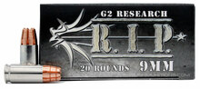 G2 Research RIP 9mm 92gr LF Copper HP Ammo - 20 Rounds