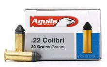 Aguila 22LR 20gr Colibri Lead Ammo - 50 Rounds