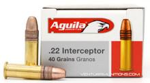 Aguila 22LR 40gr Interceptor Soft Point Ammo - 50 Rounds