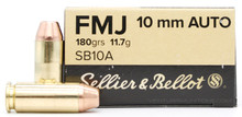 Sellier & Bellot 10mm 180gr FMJ Ammo - 50 Rounds