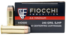 Fiocchi 44 Magnum 240gr SJHP Ammo - 50 Rounds
