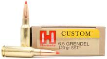 Hornady 6.5 Grendel 123gr Custom SST Ammo - 20 Rounds