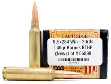 Ventura Heritage 6.5-284 Win 140gr BTHP Ammo - 20 Rounds