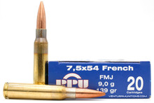 Prvi Partizan 7.5x54 French 139gr FMJ Ammo - 20 Rounds