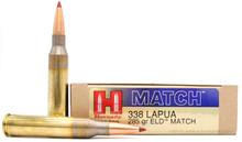 Hornady 338 Lapua Mag 285gr Match ELD Ammo - 20 Rounds