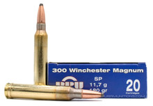 Prvi Partizan 300 Win Mag 180gr SP Ammo - 20 Rounds