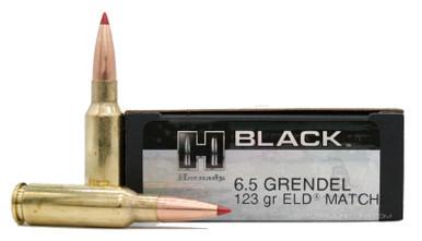 Hornady BLACK 6.5 Grendel 123gr ELD Match Ammo - 20 Rounds