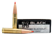 Hornady Black 300 AAC Blackout 208gr A-Max Match Ammo - 20 Rounds