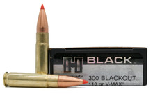 Hornady Black 300 AAC Blackout 110gr V-Max Match Ammo - 20 Rounds