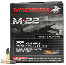 Winchester M22 22LR 40gr Black Copper RN Ammo - 500 Rounds