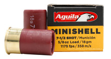 "Aguila 12ga 1.75"" 5/8oz #7.5 lead Shot Minishell Shotshell Ammo - 20 Rounds"