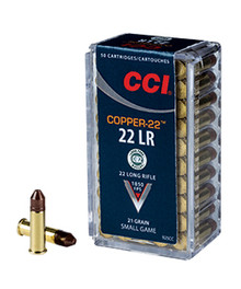 CCI Copper-22 22LR 21gr HP Ammo - 50 Rounds