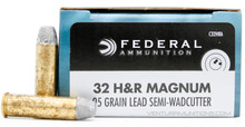 Federal Champion 32 H&R Mag 95gr Lead SWC (Blemished) Ammo - 20 Rounds