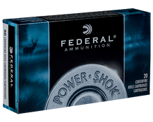 Federal Power-Shok 30-06 Springfield 150gr SP Ammo - 20 Rounds