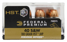 Federal Premium 40 S&W 180gr HST JHP Ammo - 20 Rounds