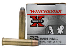 Winchester Super X 22 Win Mag 40gr JHP Ammo - 50 Rounds
