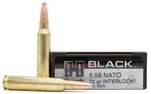 Hornady BLACK 5.56 NATO 75gr Interlock HD SBR Ammo - 20 Rounds