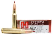 Hornady Superformance 308 Win 168gr ELD Match Ammo - 20 Rounds