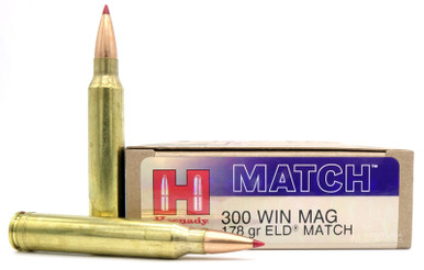 Hornady Match 300 Win Mag 178gr ELD Match Ammo - 20 Rounds