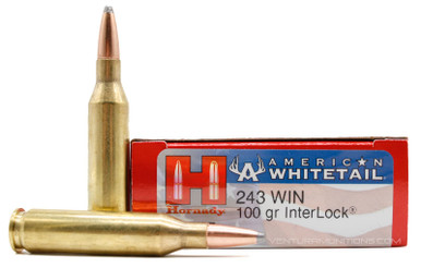 Hornady American Whitetail 243 Win 100gr BTSP Ammo - 20 Rounds