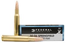 Federal Power-Shok 30-06 Springfield 180gr SP Ammo - 20 Rounds