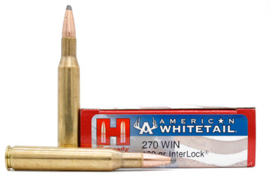 Hornady American Whitetail 270 Win 130gr Interlock SP Ammo - 20 Rounds
