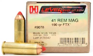 Hornady LEVERevolution 41 Rem Mag 190gr FTX Ammo - 20 Rounds