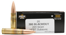 Armscor 300 AAC Blackout 220gr HPBT Subsonic Ammo - 20 Rounds