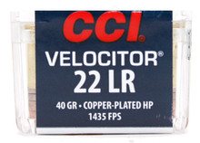 CCI Velocitor 22lr 40gr HP Ammo - 50 Rounds