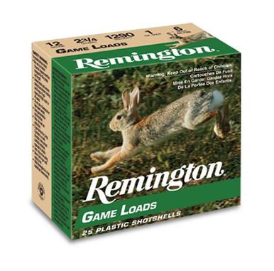 "Remington Game Loads 12ga 2.75"" 1oz #8 Shot Ammo - 25 Rounds"