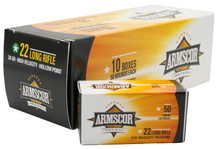 Armscor 22LR HV 36gr HP Ammo - 500 Rounds