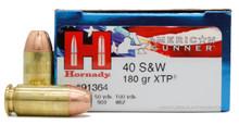Hornady American Gunner 40 S&W 180gr XTP HP Ammo - 25 Rounds