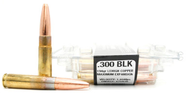 Ventura Tactical Lehigh Supreme 300 Blackout 194gr Maximum Expansion  Subsonic Ammo - 20 Rounds