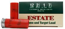 "Estate 12ga 2.75"" 1oz #7.5 Lead Shot Ammo - 25 Rounds"