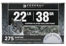 Federal Premium 22lr 38gr Copper-Plated HP Ammo - 275 Rounds