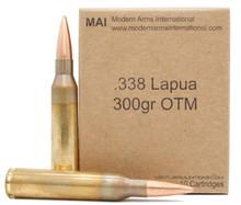 Modern Arms 338 Lapua Mag 300gr SMK HPBT Ammo - 10 Rounds